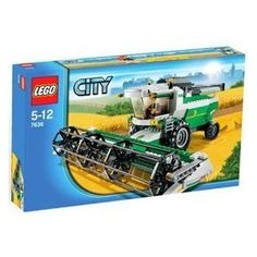 Lego City Set Combine Harvester, No field is too big for this mighty combine! Climb into the cab of the combine harvester and start harvesting, threshing and baling grain in the fields outside LEGO City! With its huge rotating thresh. Lego Movie Sets, Lego City Sets, Black Friday Toy Deals, Combine Harvester, Lego Boards, Lego Christmas, Lego City Police, All Lego, Lego Modular
