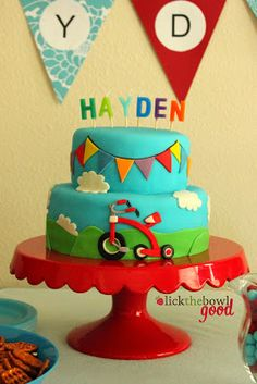 Lick The Bowl Good: Hayden's 2nd Birthday- A Radio Flyer Tricycle Party