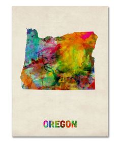 Take a look at this Tie-Dye Oregon Map Gallery-Wrapped Canvas by Michael Tompsett on #zulily today! $25-$85 !!