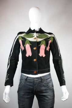 Vtg Mens RARE East West Musical Instruments Co Leather Deadly Nightshade Jacket | eBay