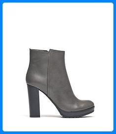 e82f920b80c7dc PoiLei Sam - Damen-Schuhe   klassische High-Heel Stiefeletten aus Echt-Leder