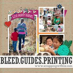 Bleed, Guides & Printing - How accurate are guides and how can they help you? #scrappingwithliz #digitalscrapbook #digiscrap