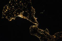 Sicily and Italy's 'Boot' at Night (NASA, International Space Station, 07/29/13) | Flickr – Condivisione di foto!
