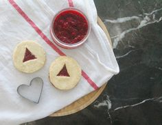 Healthy Austrian Linzer Cookies with Raspberry Chia Jam!