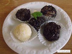 Balls: creamy coconut balls, zserbó balls, devilpill, angelpill  ~*~ Golyók: kókuszkrémes golyók , zserbógolyók, ördögpirula, angyalpirula