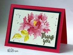 Hello! Today I have a card I water colored using the no line technique. The beautiful stamped images are from Altenew's stamp set ...