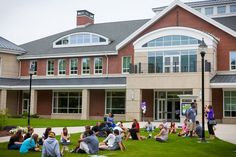 The Student Center front lawn.