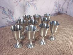Vintage Pewter Goblet Set by ECCENTRICRON on Etsy