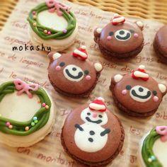 cute christmas macarons♡ #christmasmacaroons #christmasmacarons