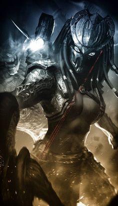 Alien Vs Predator, Predator Mask, Predator Movie, Fantasy Monster, Monster Art, Dark Fantasy Art, Female Yautja, Alien Design, Alien Concept Art