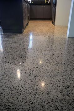 Exposed aggregate... Looks more finished than polished concrete. I still like it.