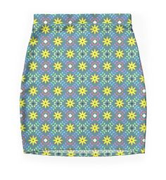 """""""Green floral pattern"""" Pencil Skirts by mrhighsky   Redbubble"""