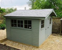 Superior Garden Shed With Grey Slate Roofing Our Customer