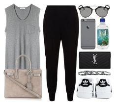 """Style #10310"" by vany-alvarado ❤ liked on Polyvore featuring STELLA McCARTNEY, T By Alexander Wang, Yves Saint Laurent, adidas, Christian Dior and Southwest Moon"