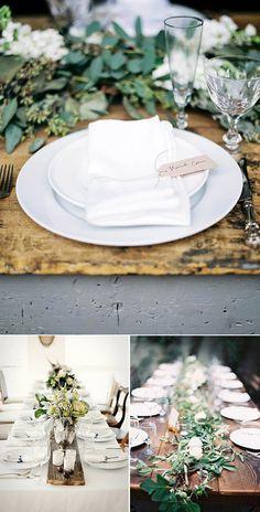 Caminos de mesa originales: vamos a darle estilo a la decoración de las mesas de la boda con caminos de mesa ideales para decorar y alegrar el banquete!