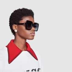 110076f593d Gucci Square-frame acetate sunglasses Gucci Frames