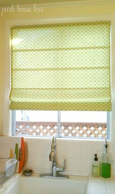 What an awesome idea to try! Easy Roman Shades made by using cheap vinyl Mini-blinds!