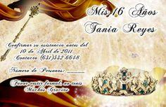 Tarjeta de Confirmación de Invitados a 15 Años #sweet15 #quinceanera #rsvp