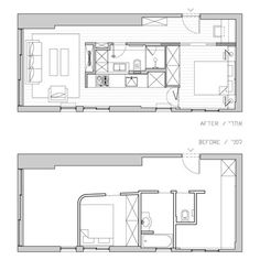 The 26 best 400 sq ft floorplan images on Pinterest | Apartment ...
