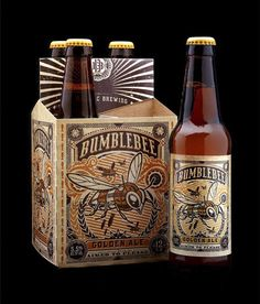 Copestick Murray's Bumble Bee golden ale, beer packaging by Stranger & Stranger