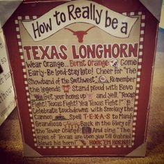 Anyone want to get me this as a graduation present? ;) How to Really be a Texas Longhorn