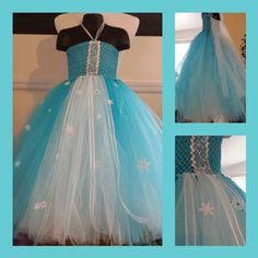 Elsa inspired tutu dress from Frozen
