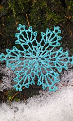 Bobsleigh Snowflake crochet pattern by snowflakepatterns. There are over 70 more. Written pattern