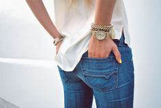 jeans + perfect stack