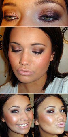 "DIY :: FOTD by #thatgirlshaexo ""Sexy Neutral Eyes"" :: FACE: Revlon Colorstay foundation, Maybelline Fit Me powder,elf bronzer, MAC Dollymix & Stereo Rose. EYES: UDPP, NYX Milk JEP, UD Wasteland shadow pencil. MAC e/s: Sable, Cork, Sketch, Naked Lunch. UD Rockstar liner. Smashbox Fully Exposed Mascara. LIPS: MAC Naked Lip Liner. Smashbox Pop lipgloss."