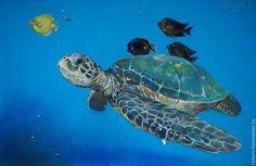 Животные ручной работы. Ярмарка Мастеров - ручная работа. Купить Гибралтар. Handmade. Морская волна, океан, черепаха, морской стиль Author, Drawings, Turtles, Animals, Art, Tortoises, Art Background, Animales, Turtle