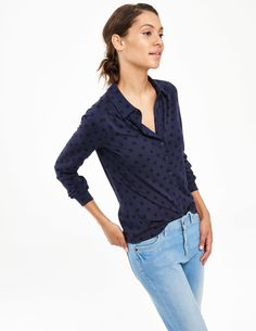 Looking for the perfect button down jersey shirt.... Printed Jersey Shirt WL911 Shirts & Blouses at Boden