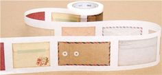 wide mt Washi Masking Tape deco tape with envelopes