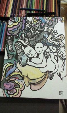Love #painting #drawing  #art #profil #artwork #sophiakim  #landscape #ambient #nature #mind #zen #artsy #nature #그림 #풍경 #예술 #작업 #wave #line #illust #design #studio #얼스타그램 #일상