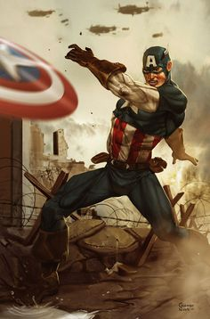 Captain America by Aracubus on DeviantArt Marvel Comics, Arte Dc Comics, Marvel Vs, Marvel Heroes, Steve Rogers, Capitan America Marvel, Captain America Comic, Jack Kirby, Comic Book Superheroes