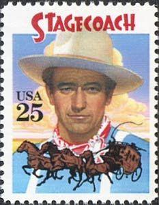 Stagecoach, John Wayne 25 cent stamp