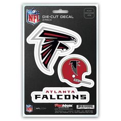 Atlanta Falcons Set of 3 Die Cut Decal Stickers Retro Helmet Logo NFL for sale online Atlanta Falcons Team, Falcons Football, Retro Helmet, Helmet Brands, Professional Football Teams, Helmet Logo, Word Mark Logo, Nfl, Decals