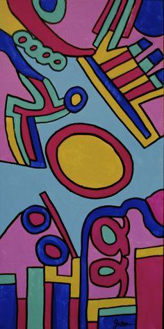 "For Sale: Aspen Carnival by Jeff Gater | $250 | 12""w 24""h | Original Art | http://www.arttwo50.com/buy/art/aspen-carnival"