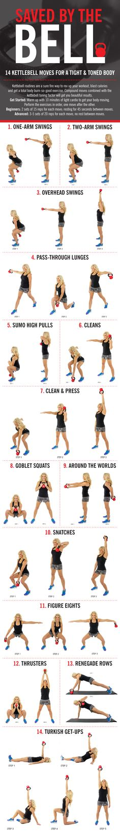 Kettlebell Moves for an All-Over Body Calorie Torcher Get ready to feel the burn with this kettlebell workout.Get ready to feel the burn with this kettlebell workout. Fitness Workouts, At Home Workouts, Ball Workouts, Cardio Workouts, Body Fitness, Fitness Diet, Health Fitness, Gym Body, Fitness Weightloss