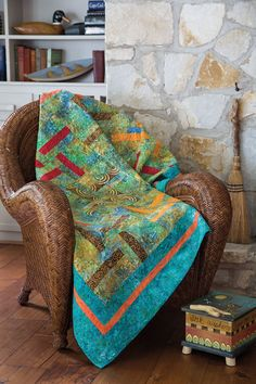 One of the greatest pleasures in a quilter's life is working with a lovely group of batiks. This versatile block is super easy — just choose a single base batik, your favorite accent colors, a border, and you're good to go!