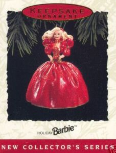 1993 Holiday Barbie Hallmark Ornament