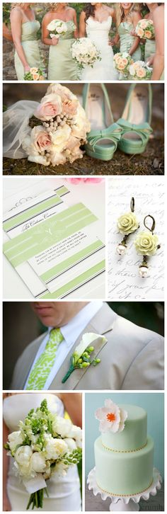 Light Green Wedding Inspiration from Shine Wedding Invitations