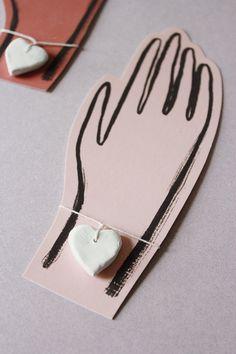 Mer Mag: Valentine Clay Heart Bracelets