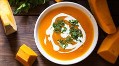 Try the recipe for Slow-Cooker Curried Pumpkin Soup.