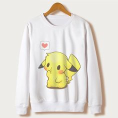 Sweatshirts Pikachu kawaii Cartoon Print Hoodies Women Felpe Donna