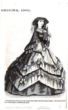 Civil war era fashion day dress