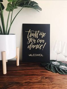 Trust me you can dance Alcohol Funny wedding sign Photo