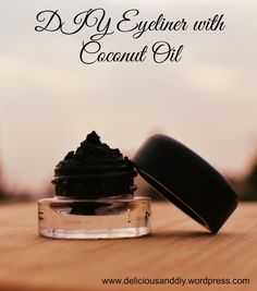 DIY EYELINER WITH COCONUT OIL- or just apply eye shadow with a little coconut oil to use as liner