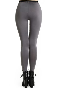 Eye Tear Print Grey Leggings #Romwe