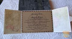 rustic airplane wedding | ... Wedding Invitation-Rustic Destination Wedding- World Map- Airplane