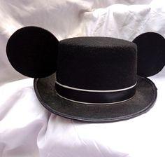 Mouse Ears Top Hat in Black Mickey Groom